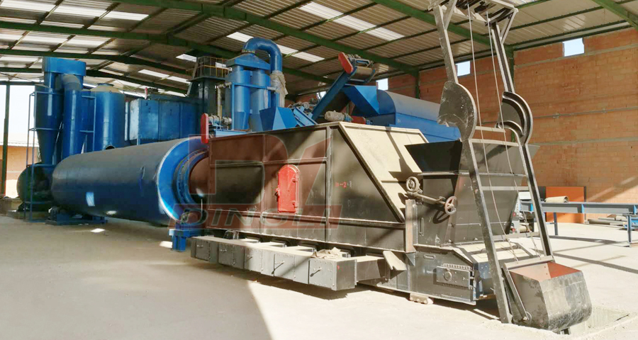 Morocco sawdust drying production line