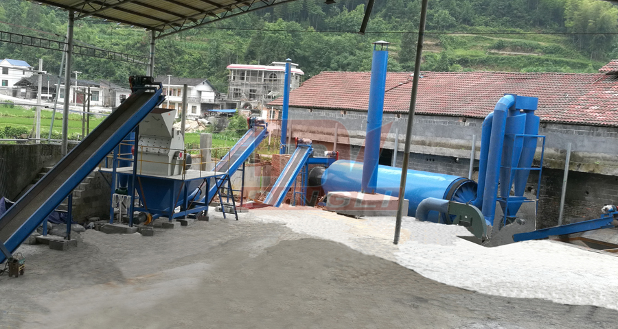 Hunan bamboo chips drying granulation production line