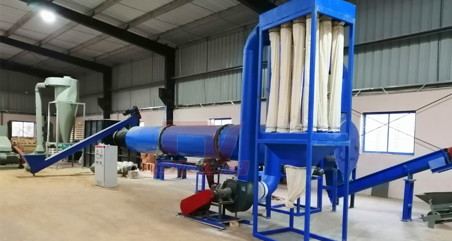 India wood chips drying production line site
