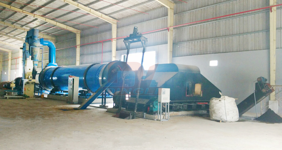 Vietnam cassava slag dryer production line